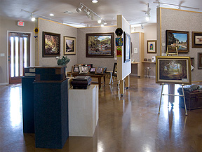 Interior of Wesley Gallery in Dripping Springs, TX